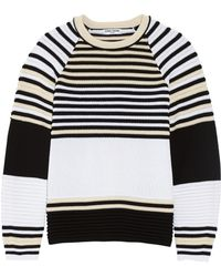 Opening Ceremony Striped Ribbed Cotton Sweater - Lyst