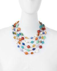 Margo Morrison - Carnival Five-strand Multi-stone Necklace - Lyst
