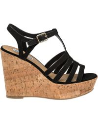 Steve Madden | Nalla Leather Wedge Sandals | Lyst