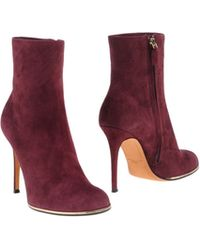 Givenchy Purple Ankle Boots - Lyst