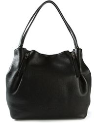 Burberry Haymarket Check Detail Tote - Lyst