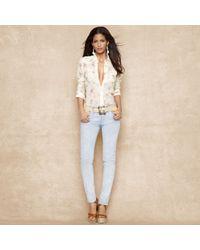 Ralph Lauren Blue Label - Slim-Fit Floral Western Shirt - Lyst