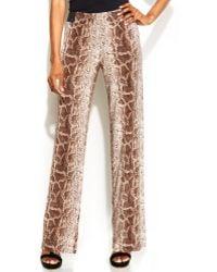 Inc International Concepts Snakeskinprint Wideleg Soft Pants - Lyst
