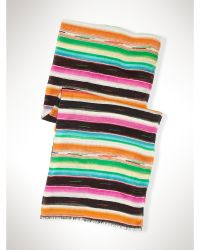 Ralph Lauren Abstract Striped Scarf multicolor - Lyst