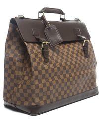 Louis Vuitton Pre-owned Damier Ebene Pm Travel Bag - Lyst