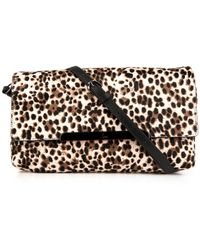 Christian Louboutin Rougissime Calf-Hair Clutch - Lyst