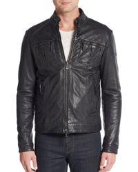 peuterey leather jacket