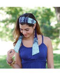Elizabeth Koh - Turquoise And Blue Paisley Bohemian Headband - Lyst