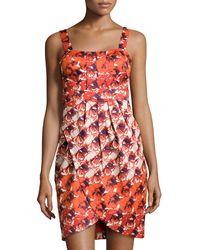 Ivy & Blu Mixed Floral Print Tulip Dress - Lyst