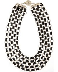 Tory Burch Aselma Goldtone Resin Necklace - Lyst