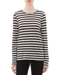 Proenza Schouler Stripe Slub Jersey T-Shirt - Lyst