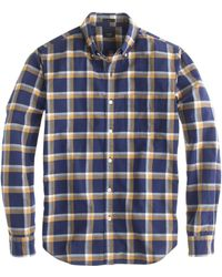 J.Crew Slim Vintage Oxford Shirt in Navy Plaid - Lyst