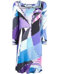 Emilio Pucci Psychedelic Print Dress - Lyst