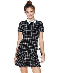 Nasty Gal Check in Dress - Lyst