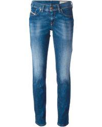 Diesel Stone Washed Jeans blue - Lyst