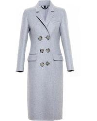 Burberry Prorsum Double Cashmere Topcoat - Lyst