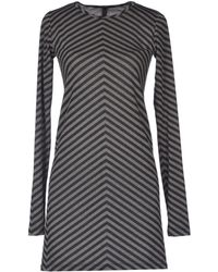 Gareth Pugh Gray Short Dress - Lyst