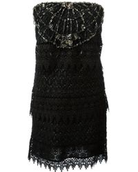 Roberto Cavalli Jewel Embellished Dress - Lyst