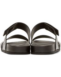 Common Projects Black Double Strap Sandals - Lyst