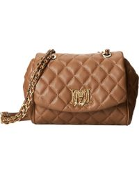Moschino Slouchy Pleated Shoulder Bag Brown 72