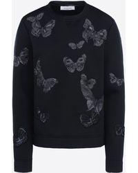 Valentino | Sweatshirt In Embroidered Modal | Lyst