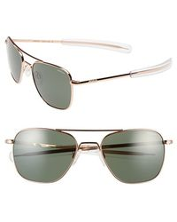 Randolph Engineering - 55mm Aviator Sunglasses - Lyst