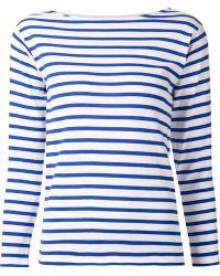 Saint Laurent Striped Sweater - Lyst