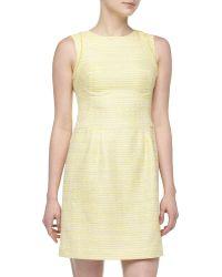 Kay J's By Kay Unger - Metallic Tweed Fringe-detailed Dress - Lyst