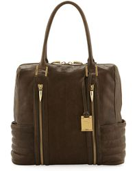 Rachel Zoe Montana Zip Leather Ribbed Tote Bag - Lyst