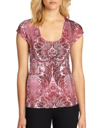 Just Cavalli Scroll Jersey Top - Lyst
