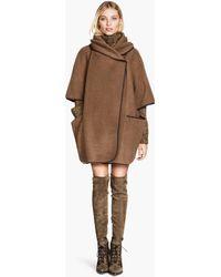 H&M Cape in A Wool Blend - Lyst