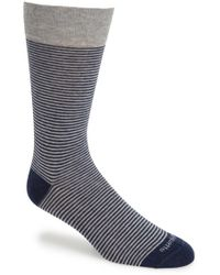 Etiquette - 'thousand Stripes' Socks - Lyst