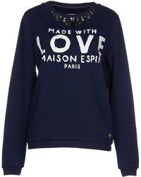 Maison Espin Sweatshirt blue - Lyst