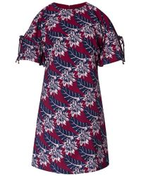 Thakoon Tahitian Floral Mini Dress With Shoulder Cut-Outs - Lyst