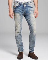 Diesel Jeans Belther Slim Fit in Ghostface - Lyst