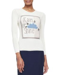 Burberry Prorsum Rain Or Shine Graphic Knit Top - Lyst