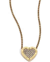Michael Kors Heritage Hearts PavÉ Necklace/Goldtone gold - Lyst