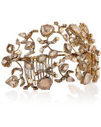 Erickson Beamon - Telepathic Gold-Plated, Swarovski Crystal And Faux Pearl Headband - Lyst