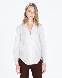 Zara Poplin Shirt - Lyst