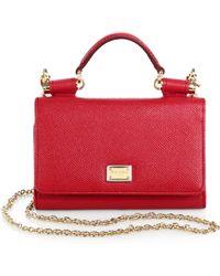 Dolce & Gabbana Miss Sicily Mini Chain Wallet - Lyst