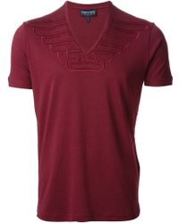 Emporio Armani V-neck T-shirt - Lyst