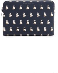Marc By Marc Jacobs Coated Canvas Pet 13 Zip Case Manitee Grey Multi - Lyst