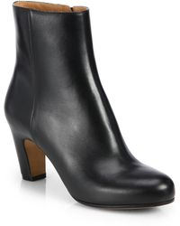 Maison Margiela Leather Curved Heel Ankle Boots - Lyst