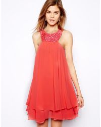 Coast Ambra Dress in Neon Watermelon - Lyst