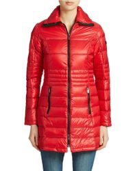 DKNY Long Packable Puffer Jacket - Lyst