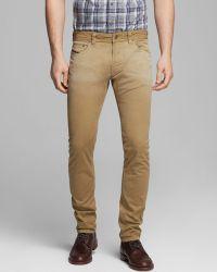 Diesel Jeans Thavar Slim Fit in Tan - Lyst