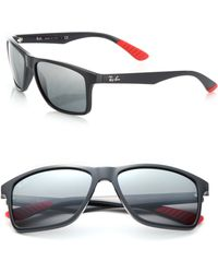 Ray-Ban | Rectangle 58mm Mirrored Sunglasses | Lyst