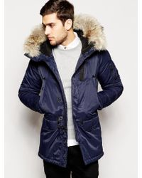 Spiewak Parka With Faux Fur Trim - Lyst