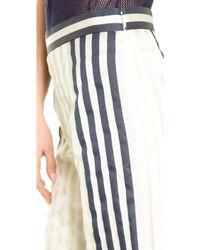 Wes Gordon - Wide Leg Trousers - Pistachio/Navy - Lyst