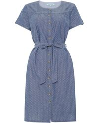 Dickins & Jones Chambray Spot Dress - Lyst